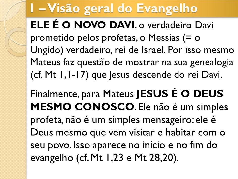 ELE É O NOVO DAVI, o verdadeiro Davi prometido pelos profetas, o Messias (= o Ungido) verdadeiro, rei de Israel. Por isso mesmo Mateus faz questão de