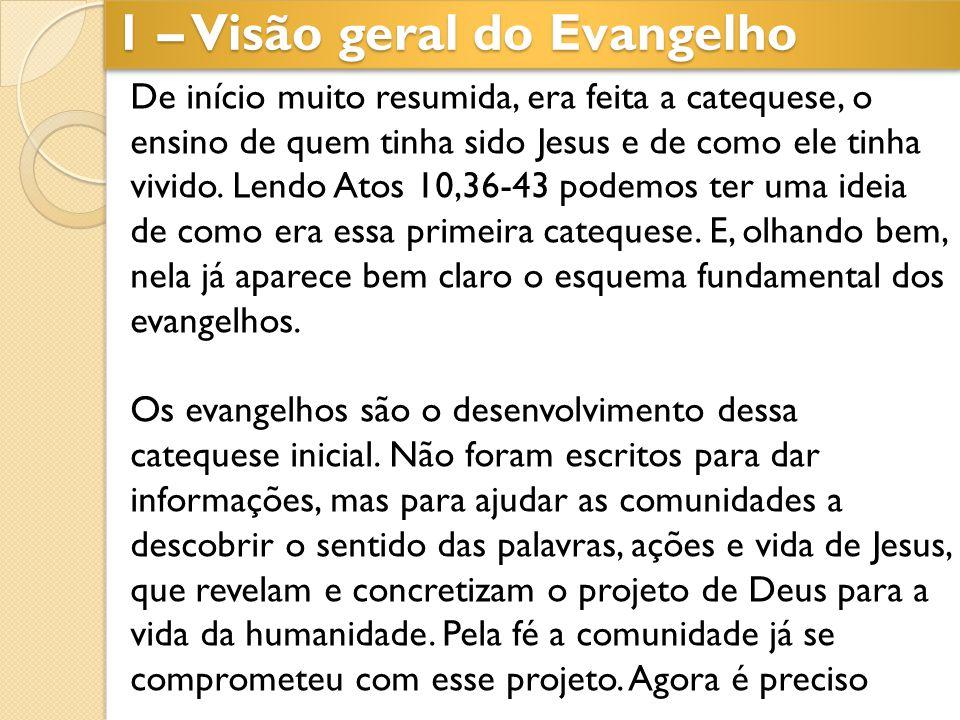 De início muito resumida, era feita a catequese, o ensino de quem tinha sido Jesus e de como ele tinha vivido. Lendo Atos 10,36-43 podemos ter uma ide