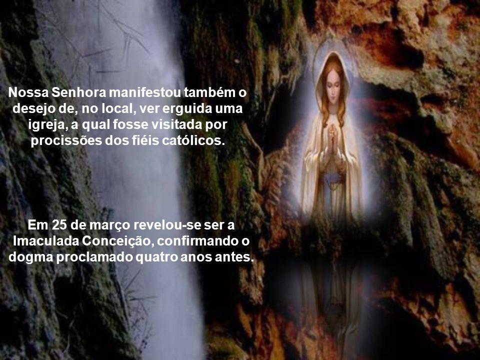 Na terceira aparição, a 18 de fevereiro, Maria Santíssima ordenou-lhe que durante uma quinzena viesse a gruta diariamente. Em 25 de fevereiro, Bernade