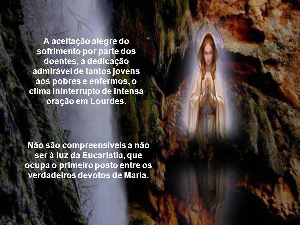 Além do fenômeno religioso, que são as peregrinações, permanecem efetivas as mensagens de conversão e de doação da própria vida pela salvação dos home