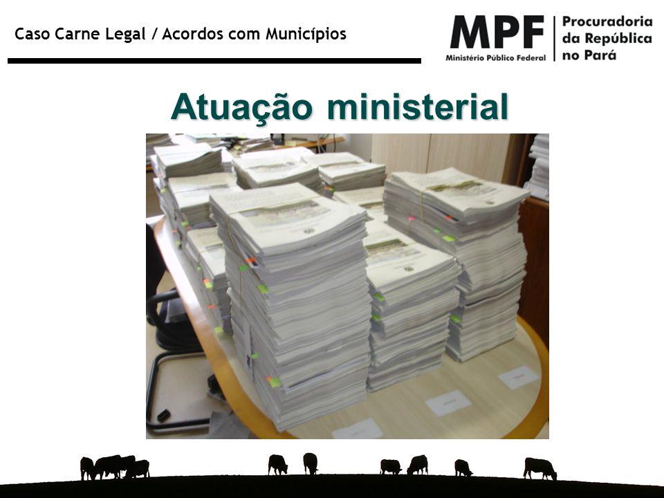 Caso Carne Legal / Acordos com Municípios Atuação ministerial
