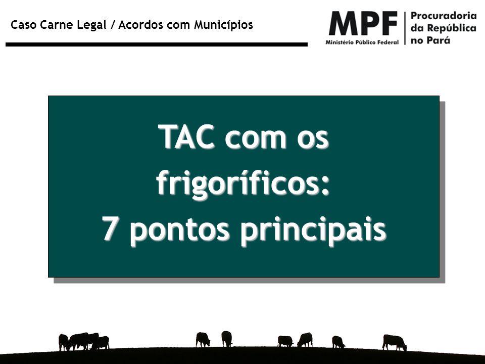 Caso Carne Legal / Acordos com Municípios TAC com os frigoríficos: 7 pontos principais