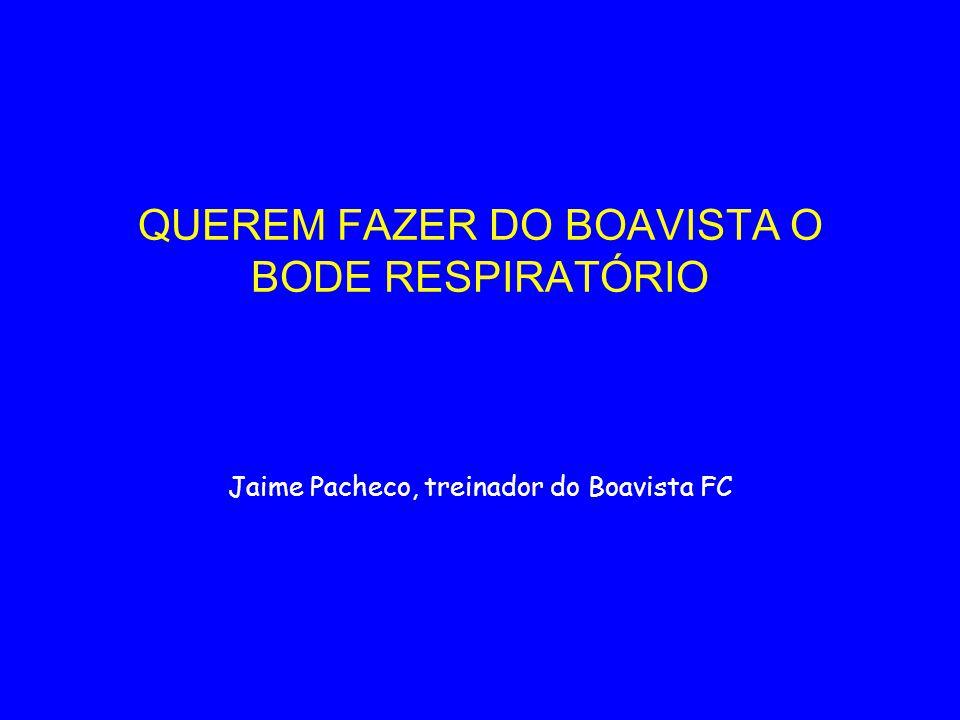 QUEREM FAZER DO BOAVISTA O BODE RESPIRATÓRIO Jaime Pacheco, treinador do Boavista FC