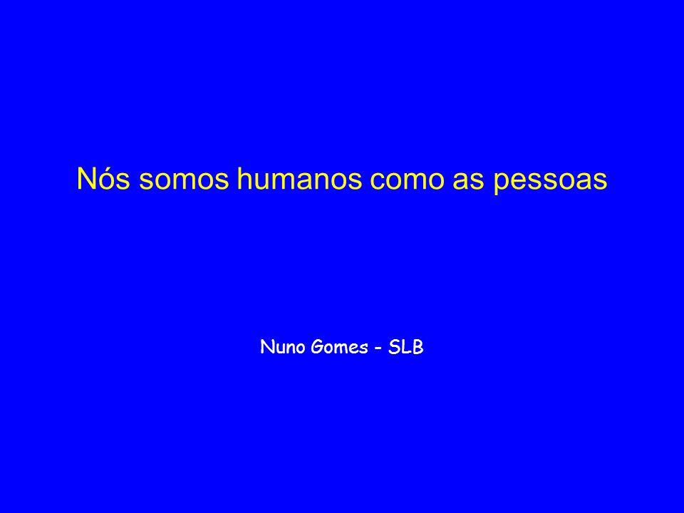 Nós somos humanos como as pessoas Nuno Gomes - SLB