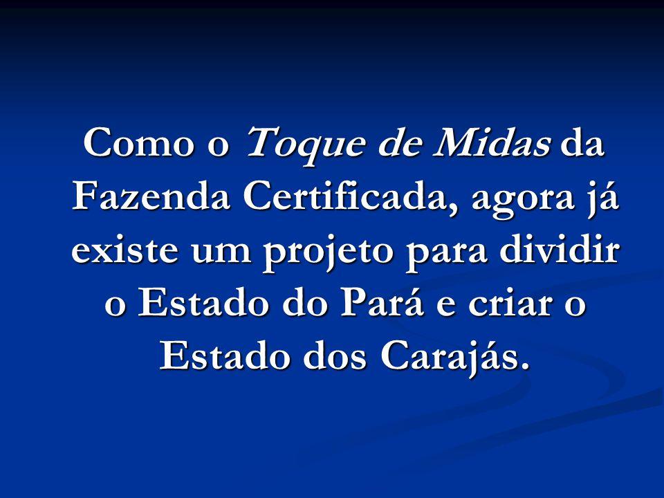 No Pará nas regiões de Redenção, Marabá e Carajás, ELE comprou de Benedito Mutran Filho, herdeiro do conhecido Bené Mutran (homen forte da castanha) v