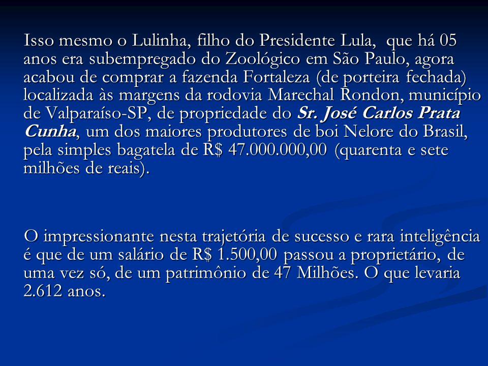 Vamos ver se você entendeu... Proprietário: Fábio Luis Lula da Silva