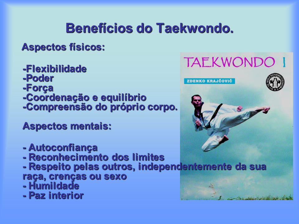 TAEKWONDO EM PORTUGAL O Taekwondo foi introduzido em Portugal em 1974 pelo Mestre David Chung Sun Yong, que actualmente é 8ºDAN. Tendo sido criado no