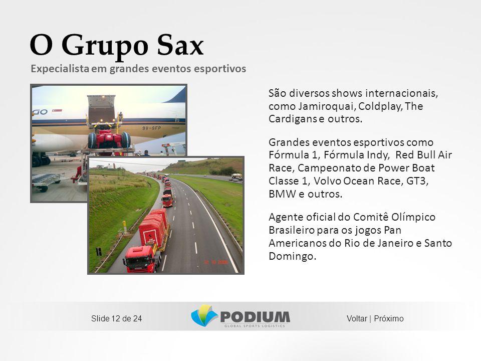 O Grupo Sax São diversos shows internacionais, como Jamiroquai, Coldplay, The Cardigans e outros. Grandes eventos esportivos como Fórmula 1, Fórmula I