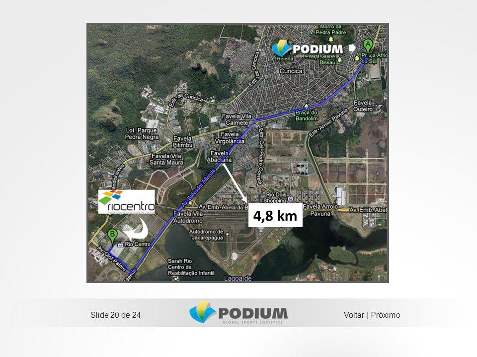 Slide 20 de 24 4,8 km Voltar | Próximo