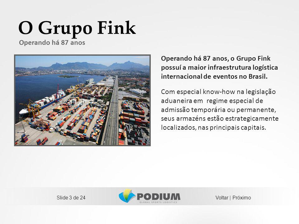 O Grupo Fink Operando há 87 anos, o Grupo Fink possuí a maior infraestrutura logística internacional de eventos no Brasil. Com especial know-how na le