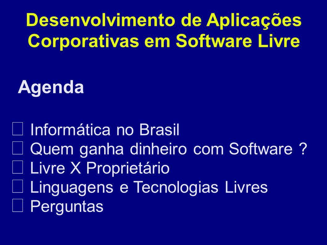 Agenda Desenvolvimento de Aplicações Corporativas em Software Livre Informática no Brasil Quem ganha dinheiro com Software .