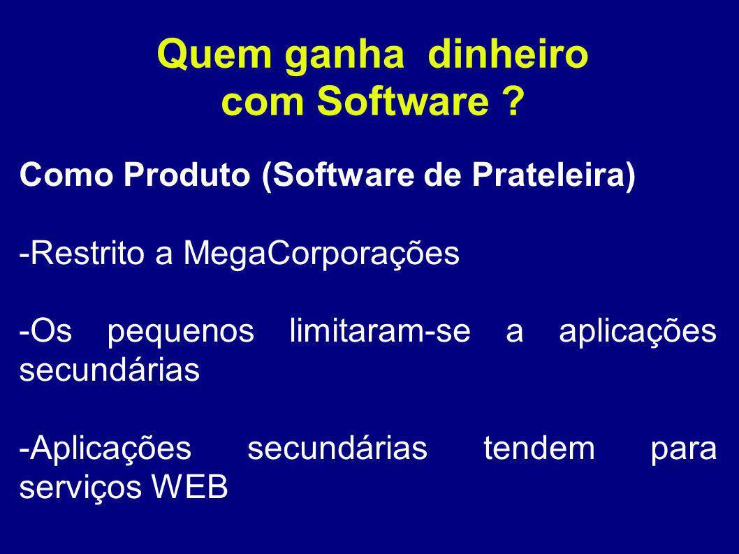 Quem ganha dinheiro com Software .