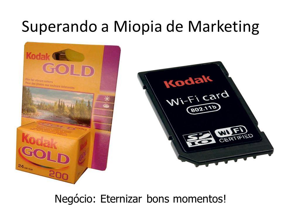 Superando a Miopia de Marketing Negócio: Eternizar bons momentos!