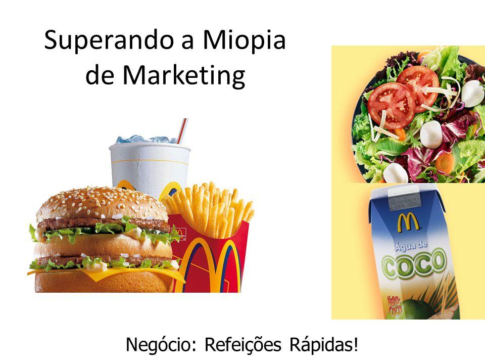 Superando a Miopia de Marketing Negócio: Refeições Rápidas!