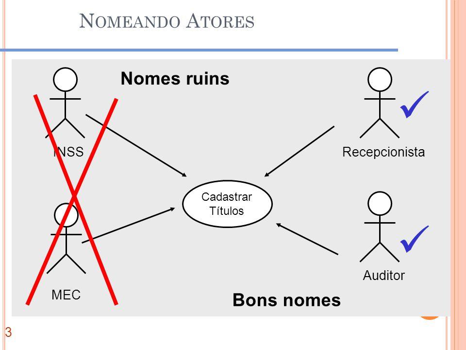 N OMEANDO A TORES IN Cadastrar Títulos INSS MEC Recepcionista Auditor Nomes ruins Bons nomes 3