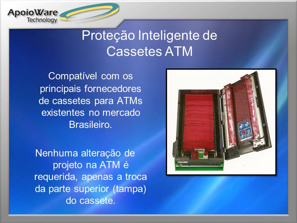 Proteção Inteligente de Cassetes ATM Compatível com os principais fornecedores de cassetes para ATMs existentes no mercado Brasileiro. Nenhuma alteraç