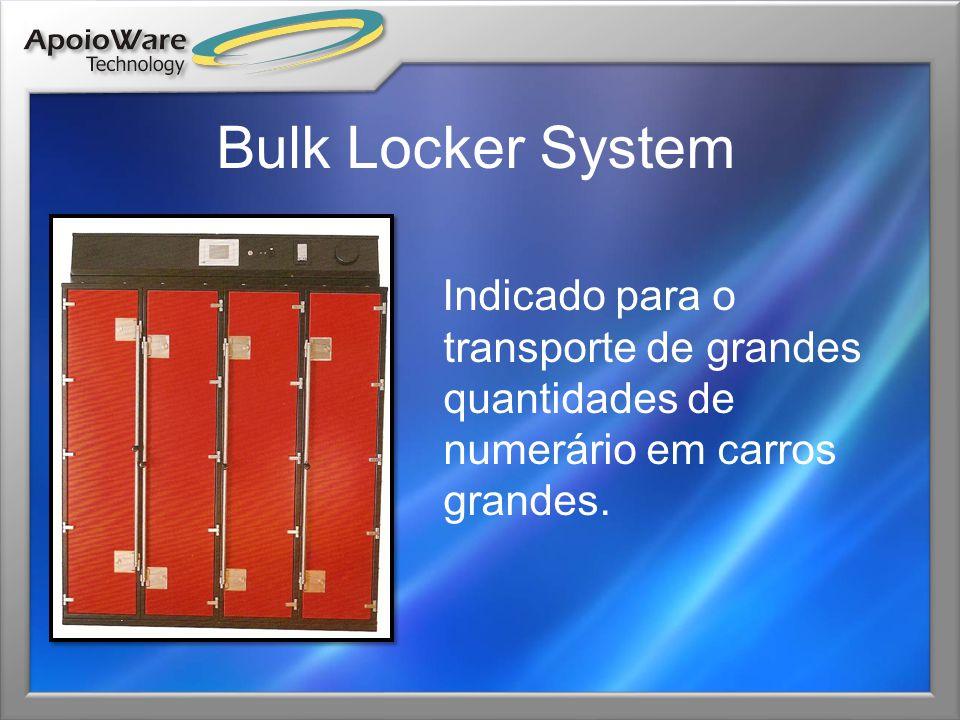 Rack System Modular Para armazenamento de maletas inteligentes de transporte de valores, para uso em veículos leves e/ ou edifícios, configuração modular.
