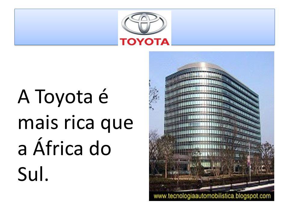 A Toyota é mais rica que a África do Sul.