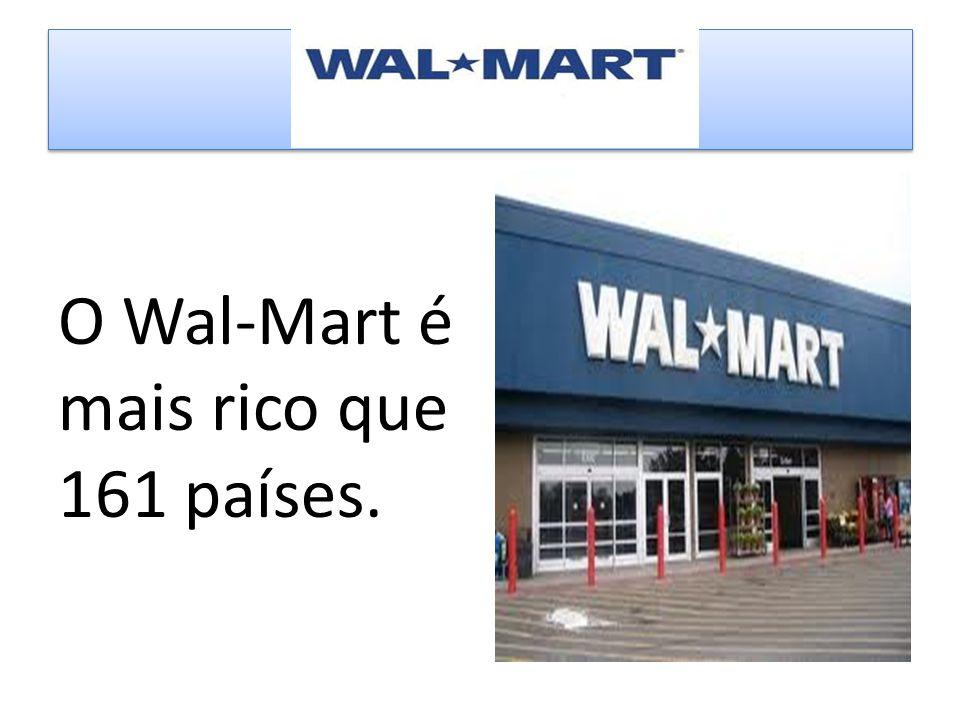 O Wal-Mart é mais rico que 161 países.