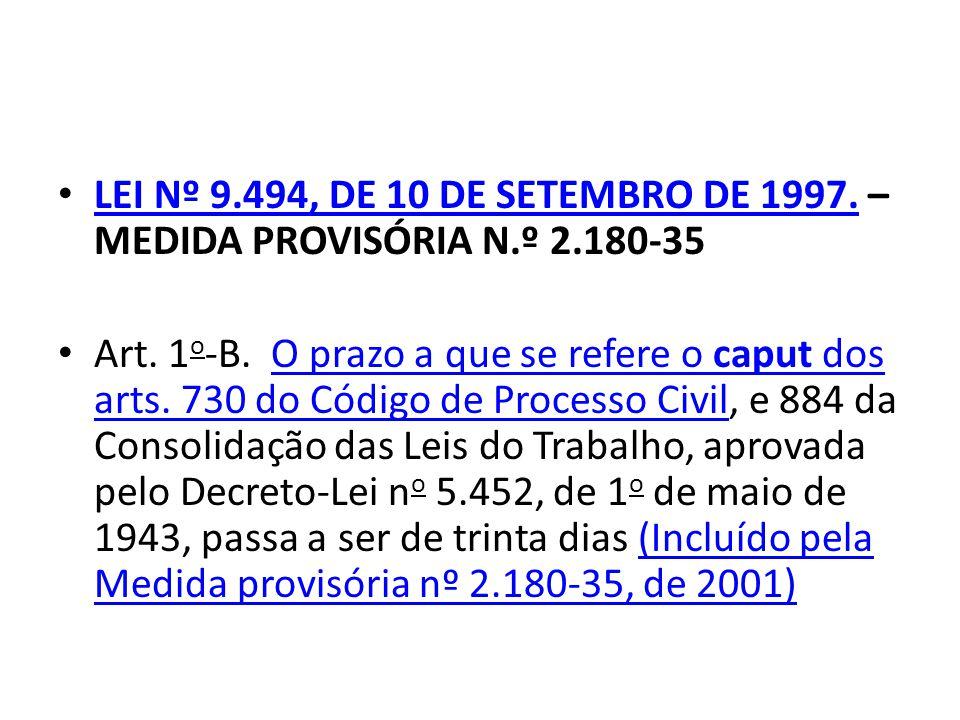 LEI Nº 9.494, DE 10 DE SETEMBRO DE 1997.