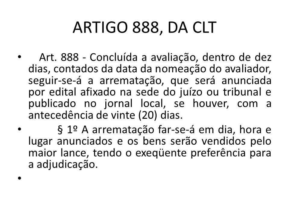 ARTIGO 888, DA CLT Art.