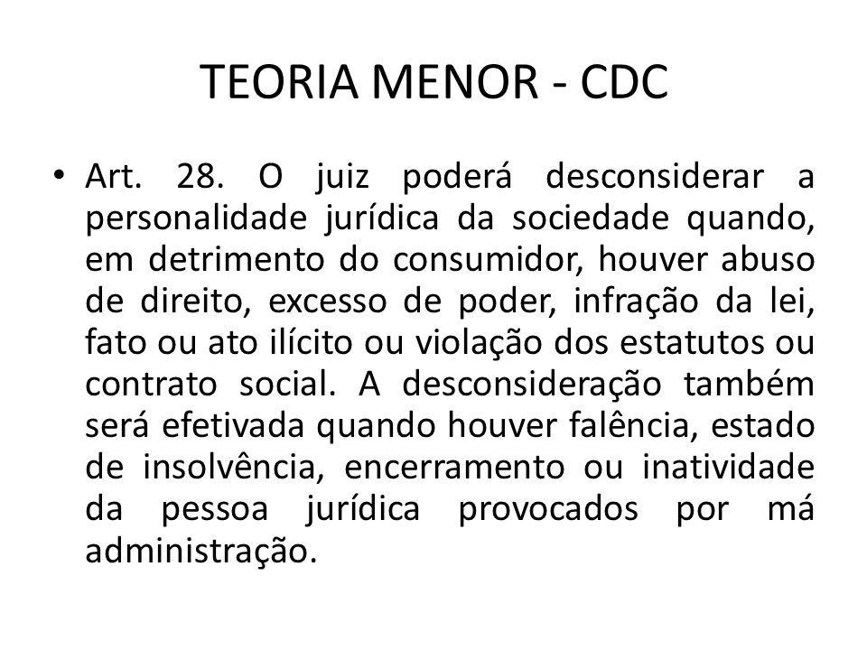 TEORIA MENOR - CDC Art.28.