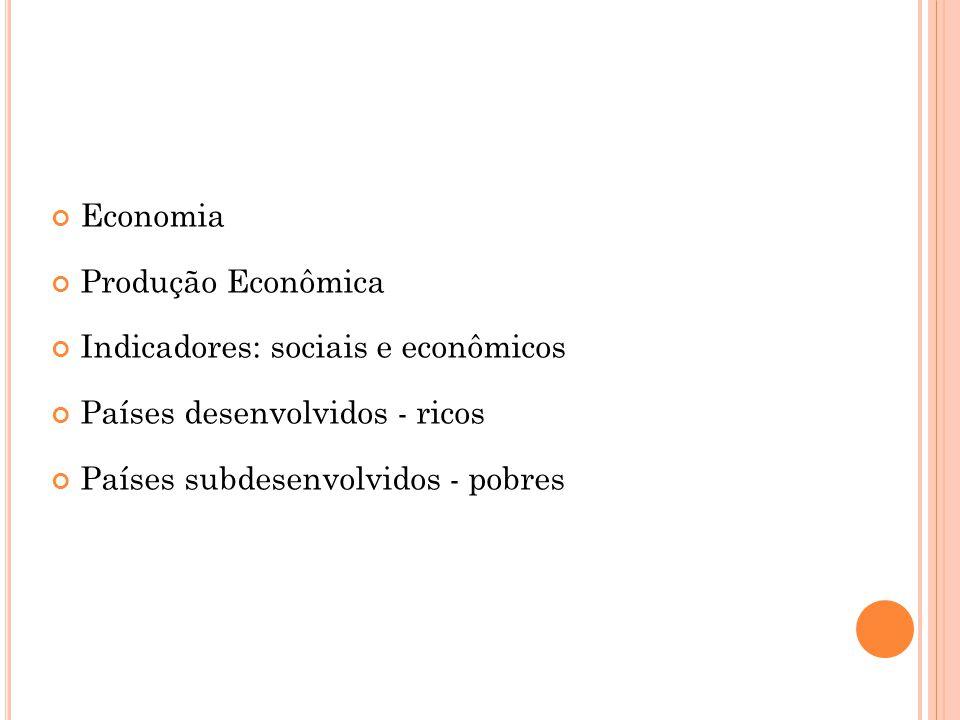 P AÍSES RICOS E PAÍSES POBRES Pós-Segunda Guerra - constatou-se a existência de dois grupos bastante diferentes de países: os desenvolvidos (países ricos) e os subdesenvolvidos (pobres)