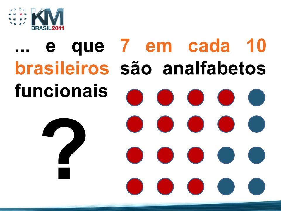 ... e que 7 em cada 10 brasileiros são analfabetos funcionais ?