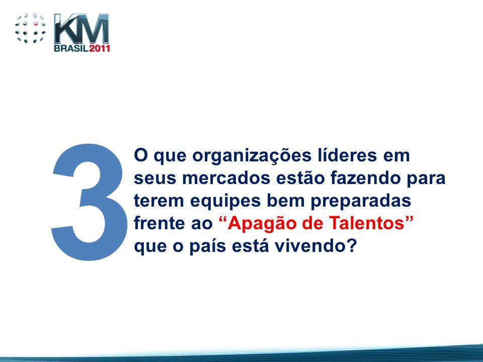 """O que organizações líderes em seus mercados estão fazendo para terem equipes bem preparadas frente ao """"Apagão de Talentos"""" que o país está vivendo? 3"""