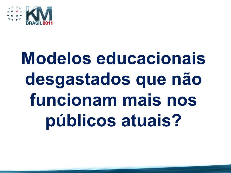 Modelos educacionais desgastados que não funcionam mais nos públicos atuais?