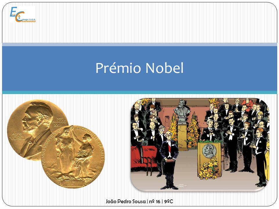 Prémio Nobel O prémio consiste numa medalha de ouro com a efígie de Alfred Nobel, gravada com o seu nome, um diploma com a citação da condecoração e uma soma em dinheiro que varia de acordo com os rendimentos da fundação, mas que geralmente consiste em mais de 1 milhão de euros.