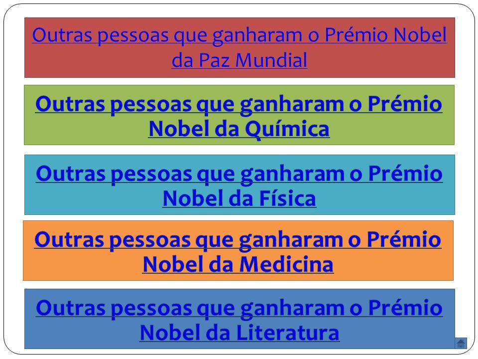 Outras pessoas que ganharam o Prémio Nobel da Paz Mundial