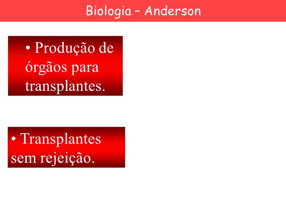Produção de órgãos para transplantes. Transplantes sem rejeição. Biologia – Anderson