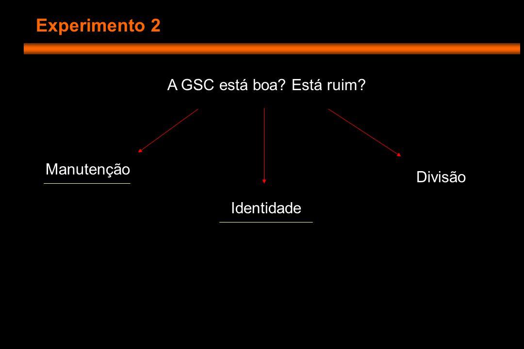 Experimento 2 Confirmar a identidade de GSC, e se ela está no lugar certo Marcadores de localização e de padrões de expressão