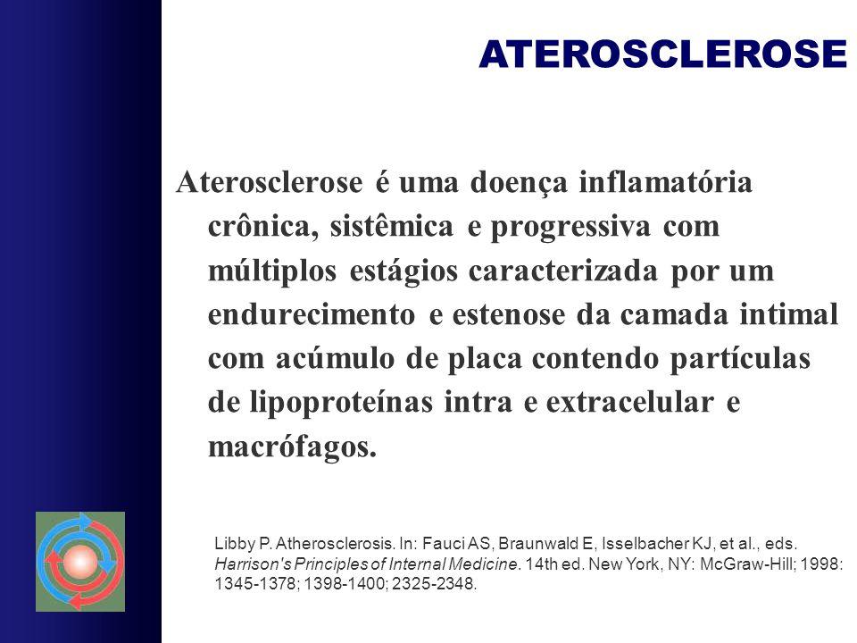 Aterosclerose é uma doença inflamatória crônica, sistêmica e progressiva com múltiplos estágios caracterizada por um endurecimento e estenose da camad