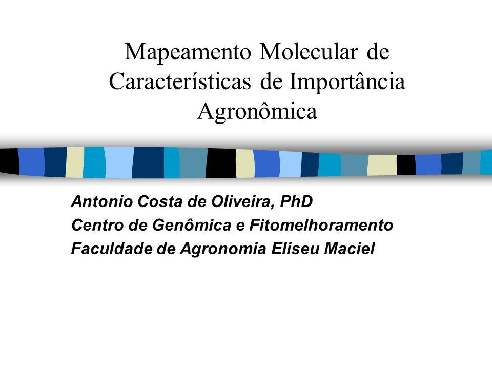 Mapeamento Molecular de Características de Importância Agronômica Antonio Costa de Oliveira, PhD Centro de Genômica e Fitomelhoramento Faculdade de Ag