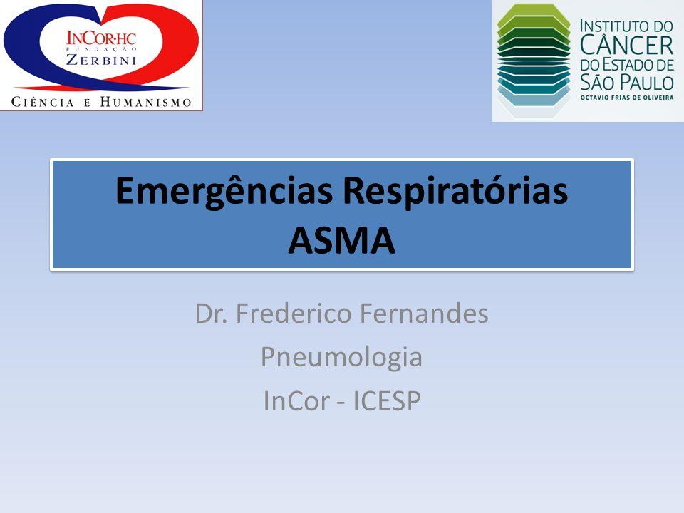Emergências Respiratórias ASMA Dr. Frederico Fernandes Pneumologia InCor - ICESP