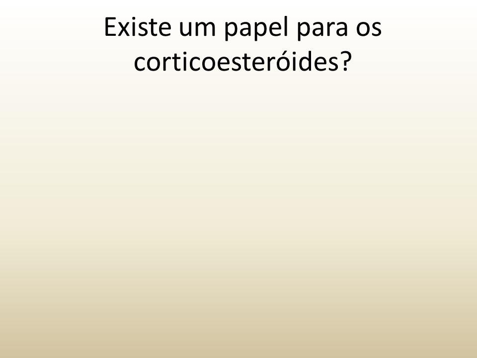 Existe um papel para os corticoesteróides?