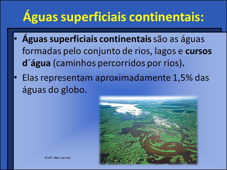 Águas do subsolo Destino das águas das chuvas: A água escorre pela superfície.