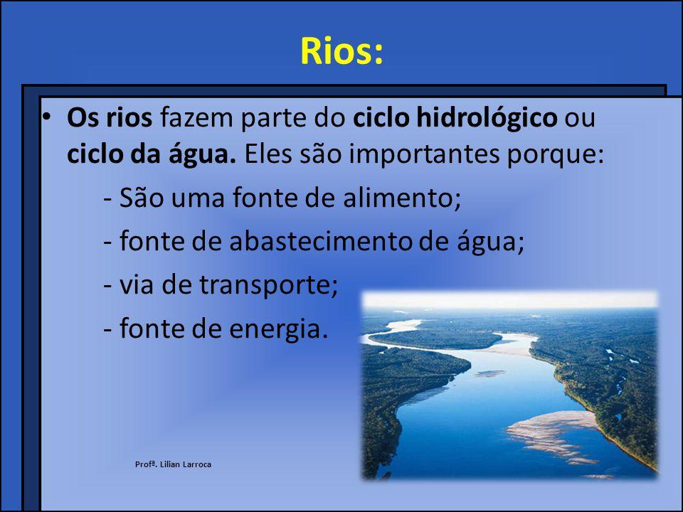 Ciclo hidrológico ou ciclo da água: Profª. Lilian Larroca