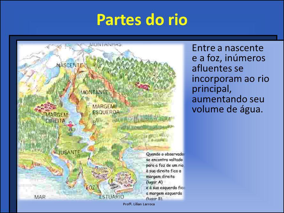Nascente A nascente se encontra na parte mais alta do relevo.