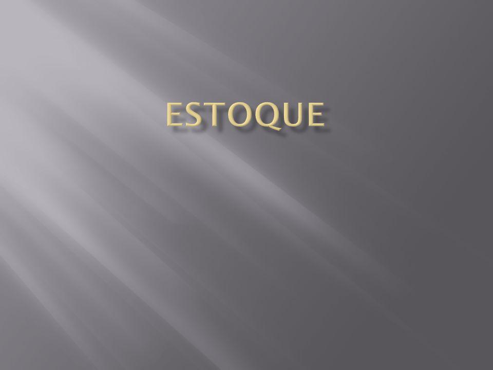  Estoque é definido como acúmulo armazenado de recursos materiais em um sistema de produção.