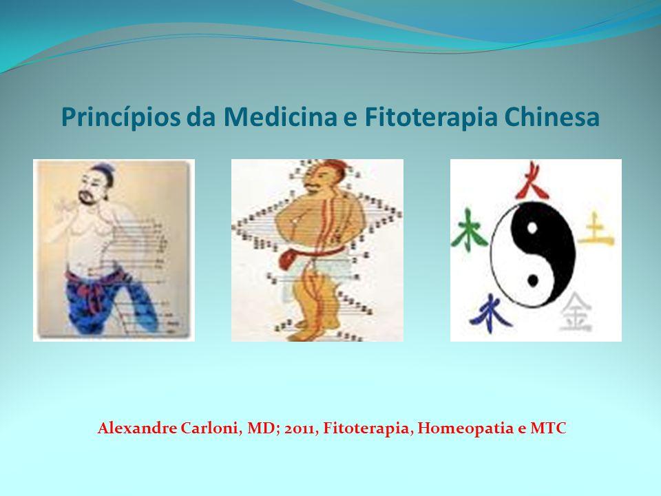 Princípios da Medicina e Fitoterapia Chinesa Alexandre Carloni, MD; 2011, Fitoterapia, Homeopatia e MTC