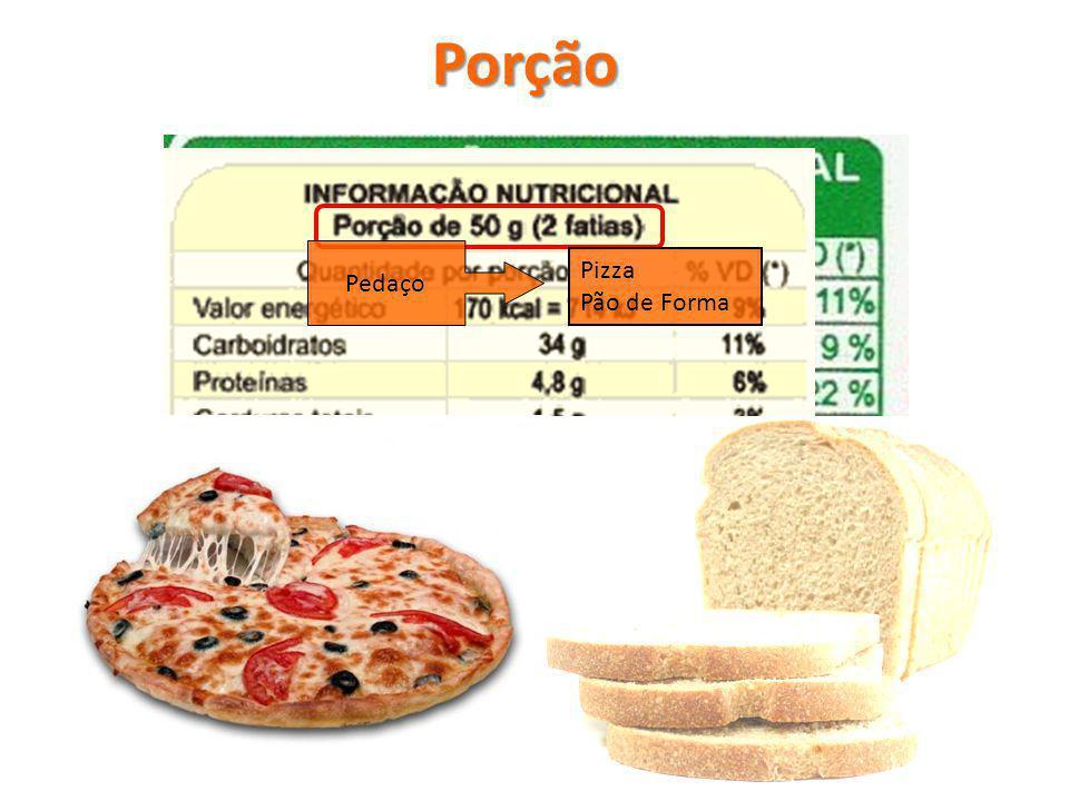 Pedaço Pizza Pão de Forma Porção