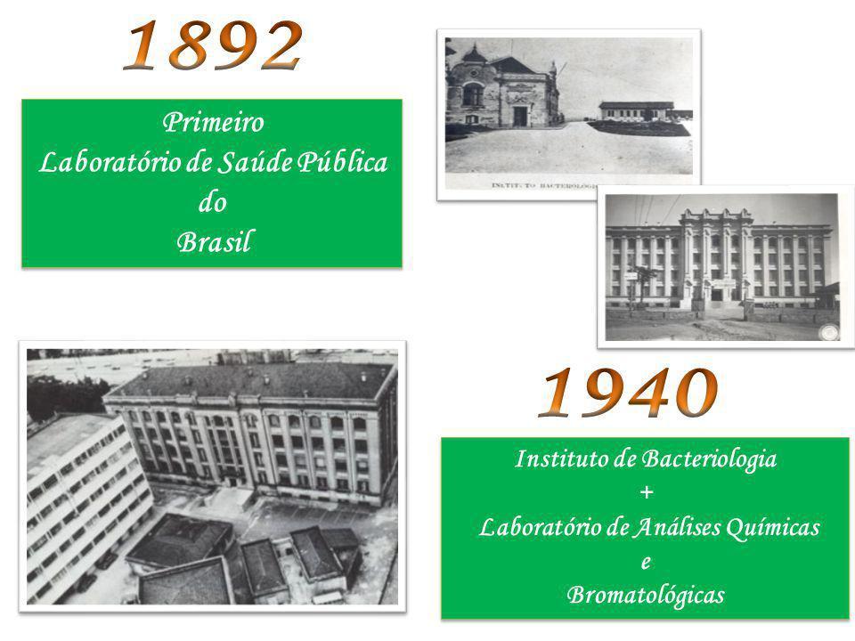 Primeiro Laboratório de Saúde Pública do Brasil Primeiro Laboratório de Saúde Pública do Brasil Instituto de Bacteriologia + Laboratório de Análises Q