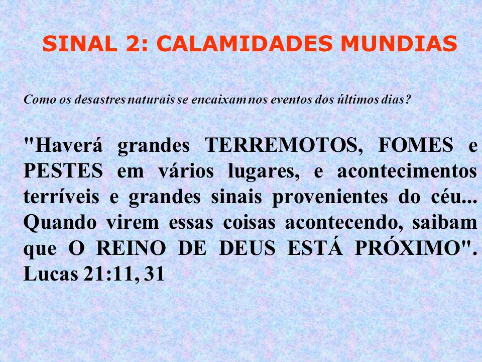 SINAL 2: CALAMIDADES MUNDIAS Como os desastres naturais se encaixam nos eventos dos últimos dias.