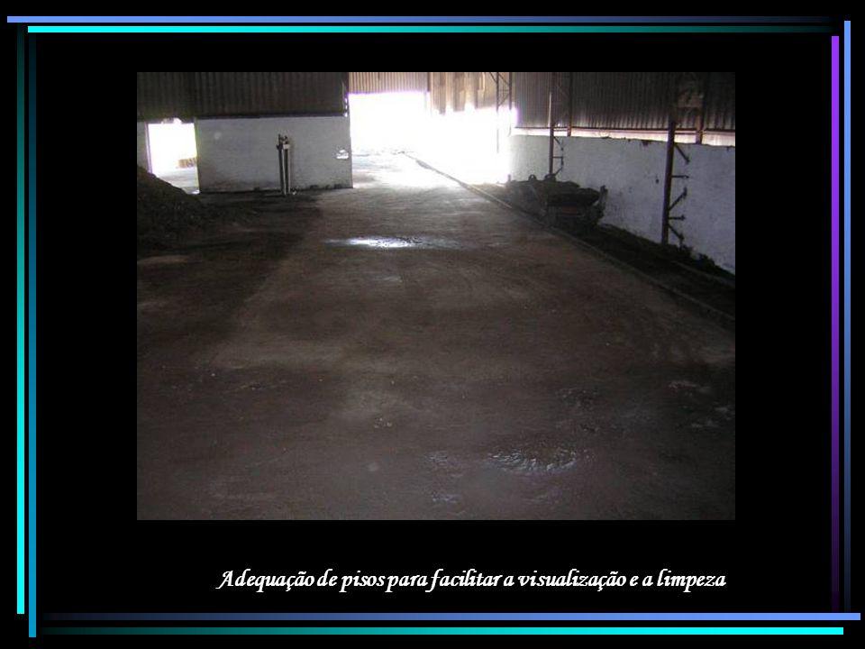 Adequação de pisos para facilitar a visualização e a limpeza