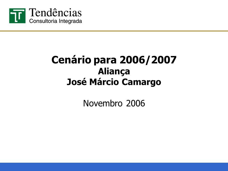 Cenário para 2006/2007 Aliança José Márcio Camargo Novembro 2006