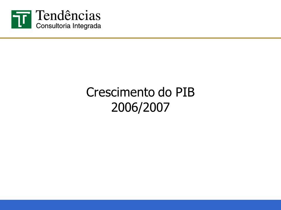 Crescimento do PIB 2006/2007