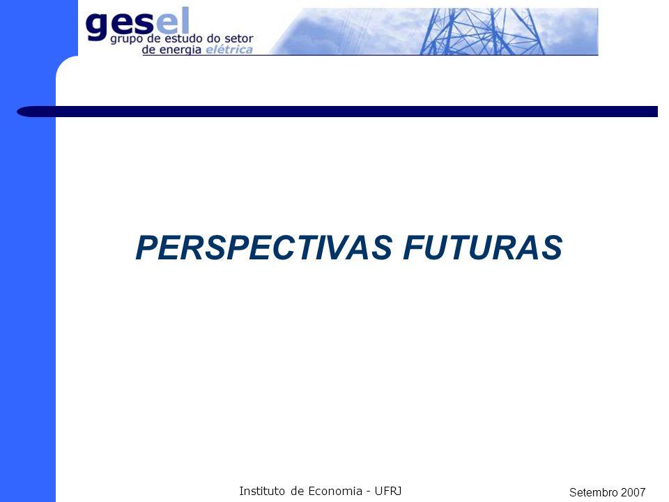 Setembro 2007 Instituto de Economia - UFRJ PERSPECTIVAS FUTURAS